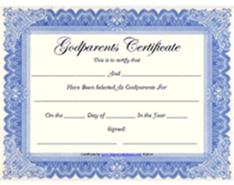 godparent certificate template free printable god parents certificates