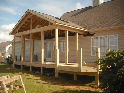 how to frame hip roofs house ideas pinterest porch roof framing details pro built construction deck