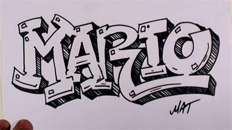 doodlebug konusu graffiti writing mario name design 38 in 50 names