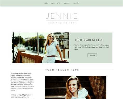 weebly templates for photographers weebly template the quot jennie quot with website and shop
