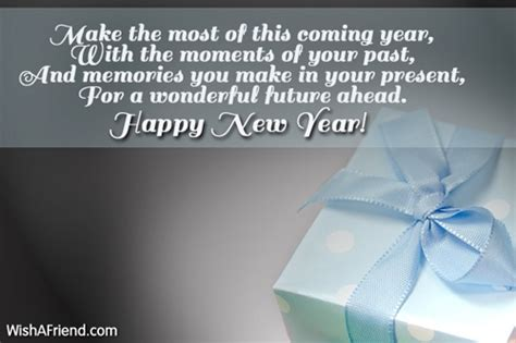 make the most of this coming new year wish