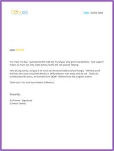Thank You Letter Template For Monetary Donation Thank You Letter For Money Donation Sle Letters
