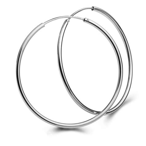 S925 Sterling Silver Hoop Earring aliexpress buy real s925 sterling silver circle