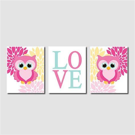 scary aqua owl bird design owl nursery decor owl wall pink baby nursery