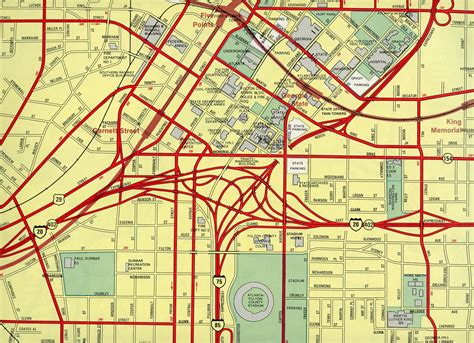map of atlanta with exits interstate guide interstate 20