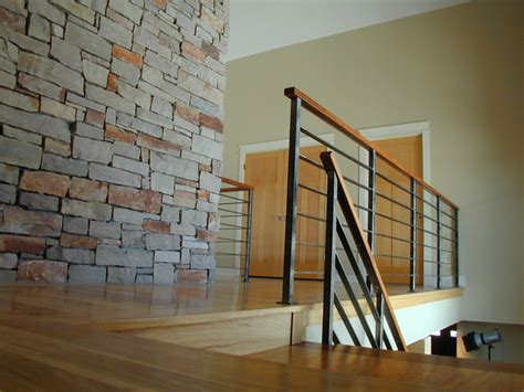 Contemporary Stair Railing Contempoary Stair Railing Modern Staircase Milwaukee