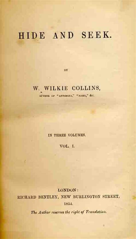 Vcd Original Hide And Seek hide and seek by wilkie collins