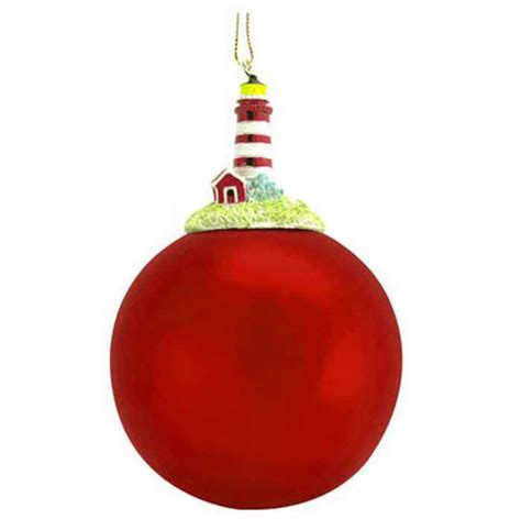 Tree Ornaments - buy stripe lighthouse tree ornament