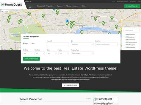 theme wordpress quest 1 real estate directory theme 2018 estate agents and