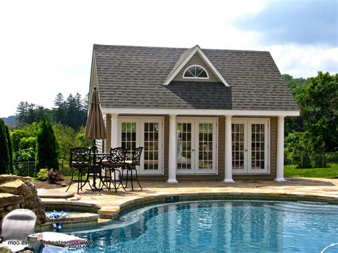Shed Roof House Plans by Pool Houses Cabanas Pool Sheds Amp Pool Side Bars