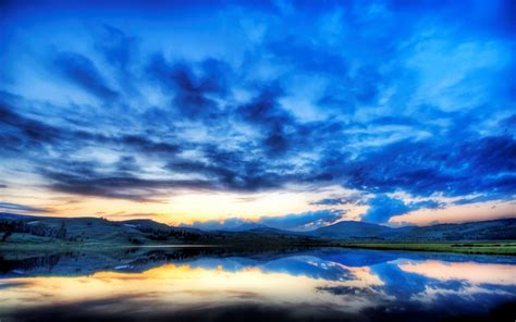 peaceful colors blue sky amazing beautiful blue clouds colors lake national park nature peaceful