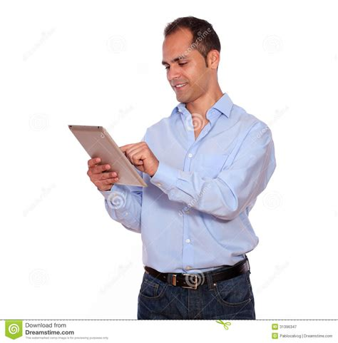 south american using laptop stock photos south american using laptop stock images alamy latin adult man using his tablet pc royalty free stock photography image 31396347