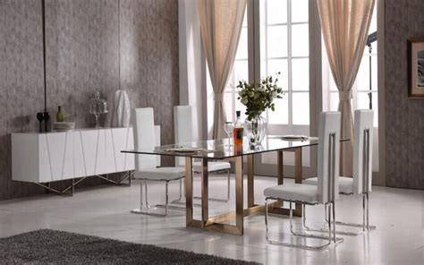 modern tempered glass  brass dining set philadelphia pennsylvania vig keaton arcadia