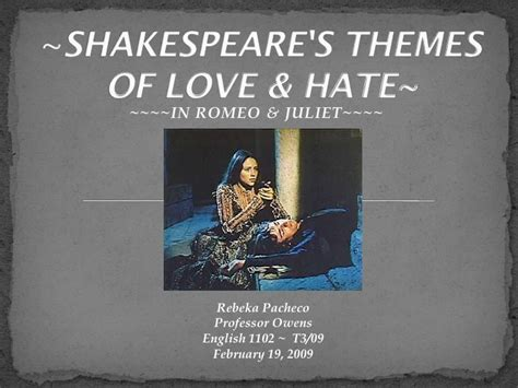 hamlet themes and techniques shakespeares themes of love hate