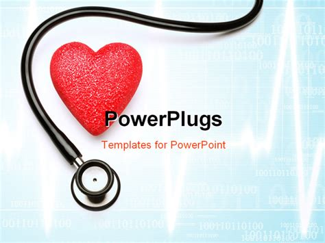 stethoscope and red heart health for health powerpoint