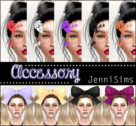 bow headband at jenni sims 187 sims 4 updates flowers bow headband at jenni sims 187 sims 4 updates