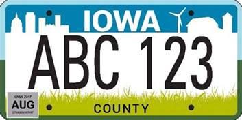 officials announce new iowa license plate design