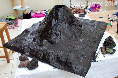 How Do You Make A Volcano Out Of Paper Mache - how to make an awesome papier mache volcano paper mache