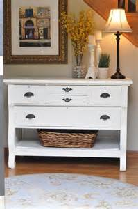White Foyer Table White Shabby Chic Entry Table S Staircase Table Painted Home Decor