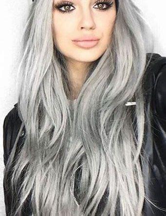 Delisa Grey silver grey hair pastal hair color silver