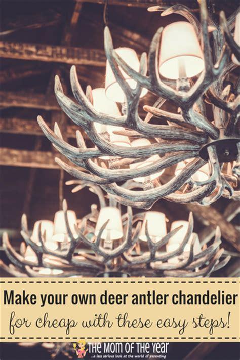 How To Make Antler Chandelier Diy Deer Antler Chandelier The Of The Year