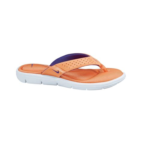 comfort thong sandals nike comfort thong sandals in orange mln crsh ultrvlt