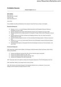firefighter resume cover letter sle firefighter resume