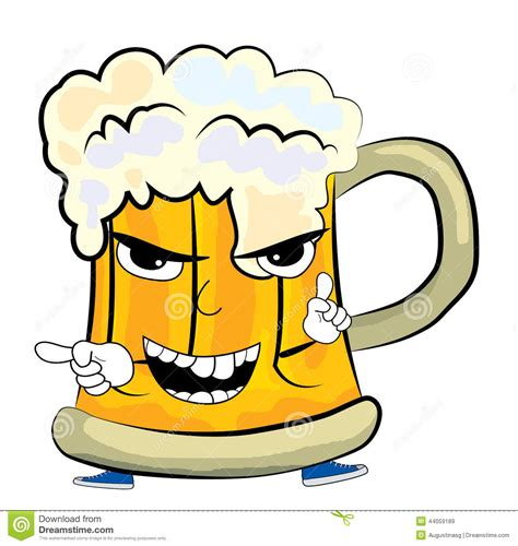 cartoon beer angry beer cartoon royalty free illustration