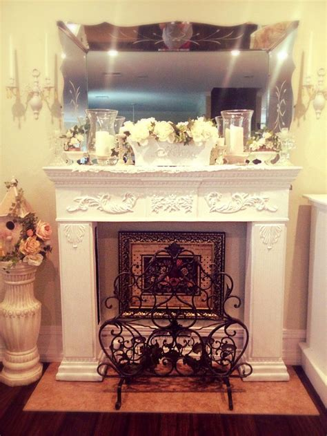 shabby chic fireplace mantle misc stuff pinterest