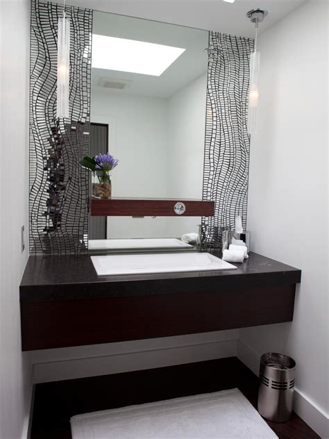 contemporary bathroom mirrors photos hgtv