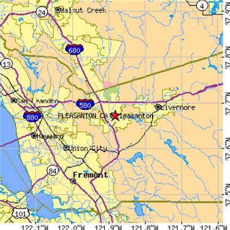 pleasanton california map pleasanton california ca population data races