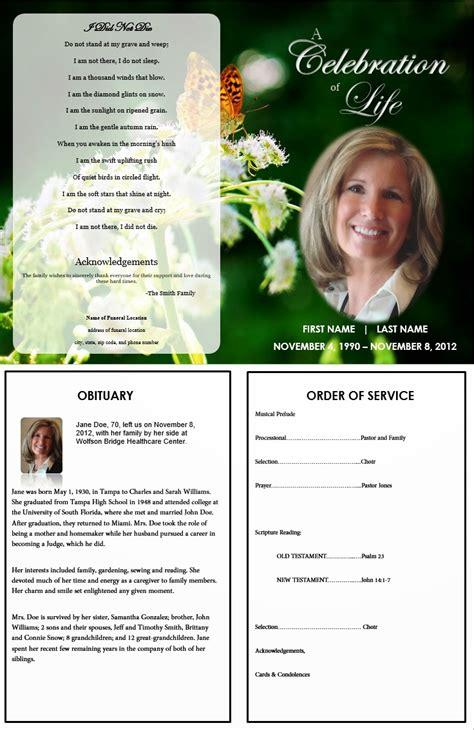 funeral memorial program blog  funeral program