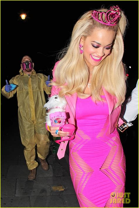 film barbie halloween rita ora looks gets all dolled up as barbie for halloween