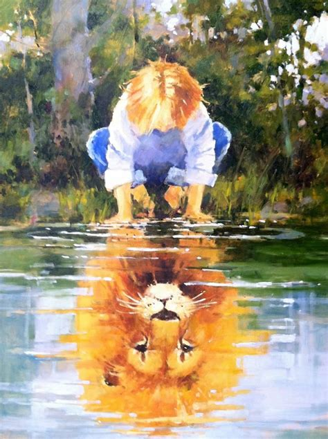 Your Reflection your reflection in the living water is child of god