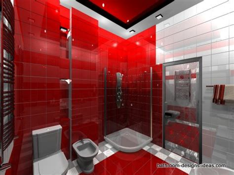 grey and red bathroom hot red bathroom