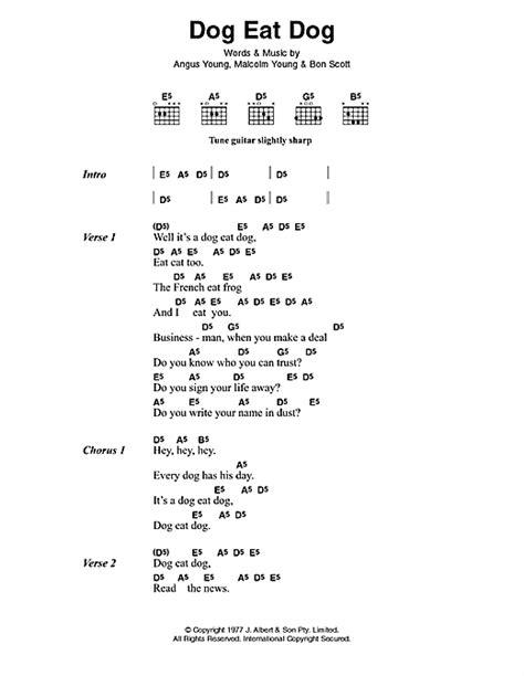 puppy lyrics eat sheet by ac dc lyrics chords 42573