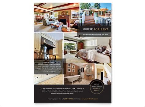 House Brochure Template by House Brochure Template 20 Free Real Estate Flyer