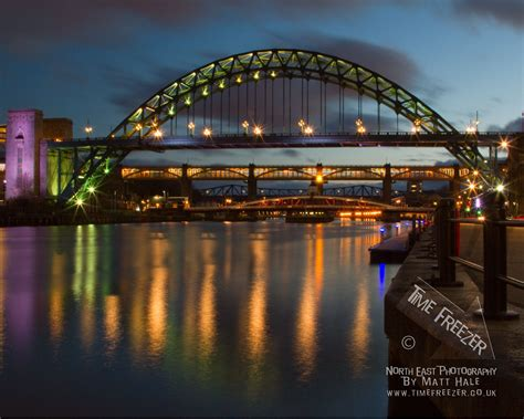 night tyne bridge photo time freezer photography