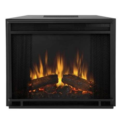 Home Depot Fireplace Logs by Real 23 In Electric Fireplace Insert