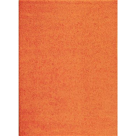 solid orange rug world rug gallery soft cozy solid orange 7 ft 10 in x 10 ft indoor shag area rug 2700 or