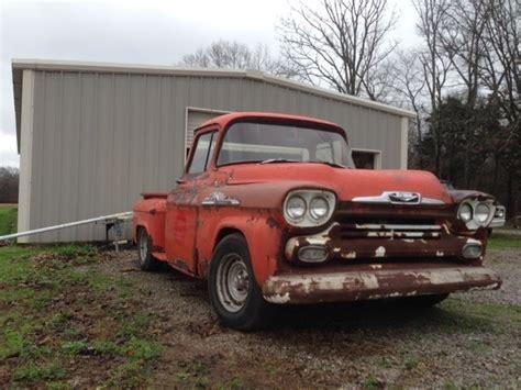 1958 Chevrolet Truck by 1958 Chevy Chevrolet 3100 Apache Truck Rat Rod
