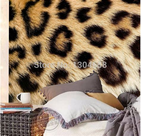 fur wallpaper for bedrooms aliexpress buy custom photo wallpaper leopard fur