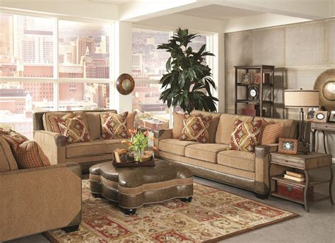 Ruby Living Room Fitzgerald Caramel And Ruby Multi Living Room Set F1354