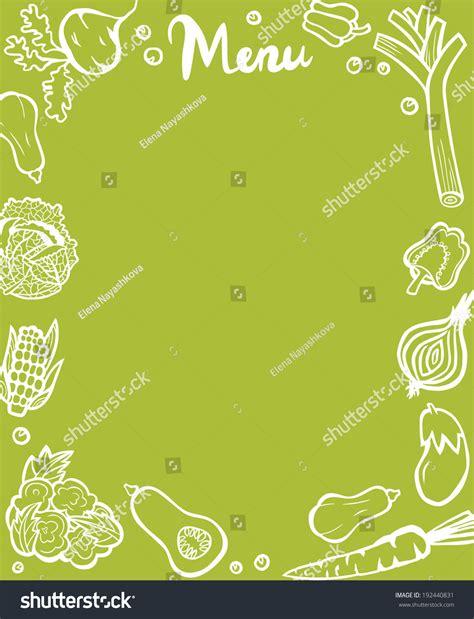 healthy menu template healthy vegetable menu template white outlines stock