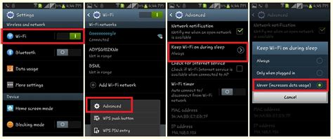 how to use android how to disable wifi automatically when screen is