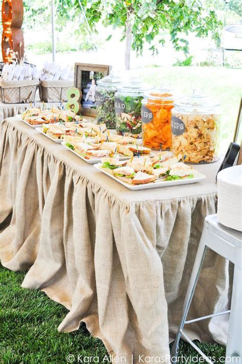 Chalkboard   Burlap Rustic Vintage Baptism Luncheon Party
