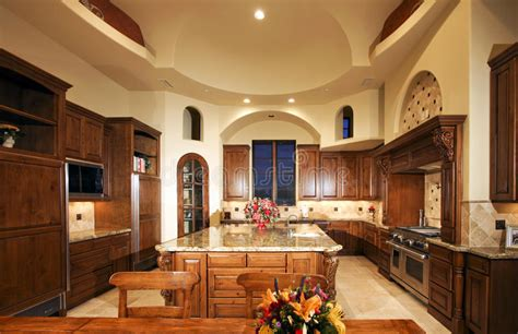 house kitchen image new mansion home kitchen stock photo image of decorate counter 10015840