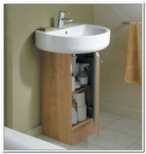 sink bathroom storage best 25 pedestal sink storage ideas on