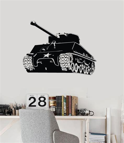 army wall decor wall mural tank battle army cool decor