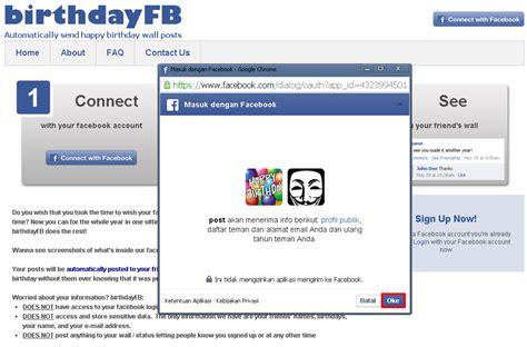 cara membuat kartu ucapan ulang tahun di facebook cara memberi ucapan selamat ulang tahun otomatis di